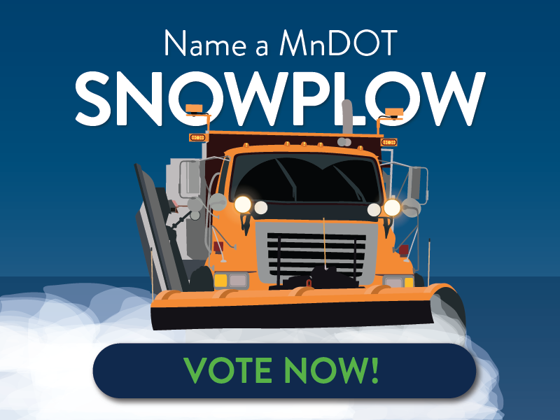 Help us name a MnDOT snowplow. Submit your ideas now!